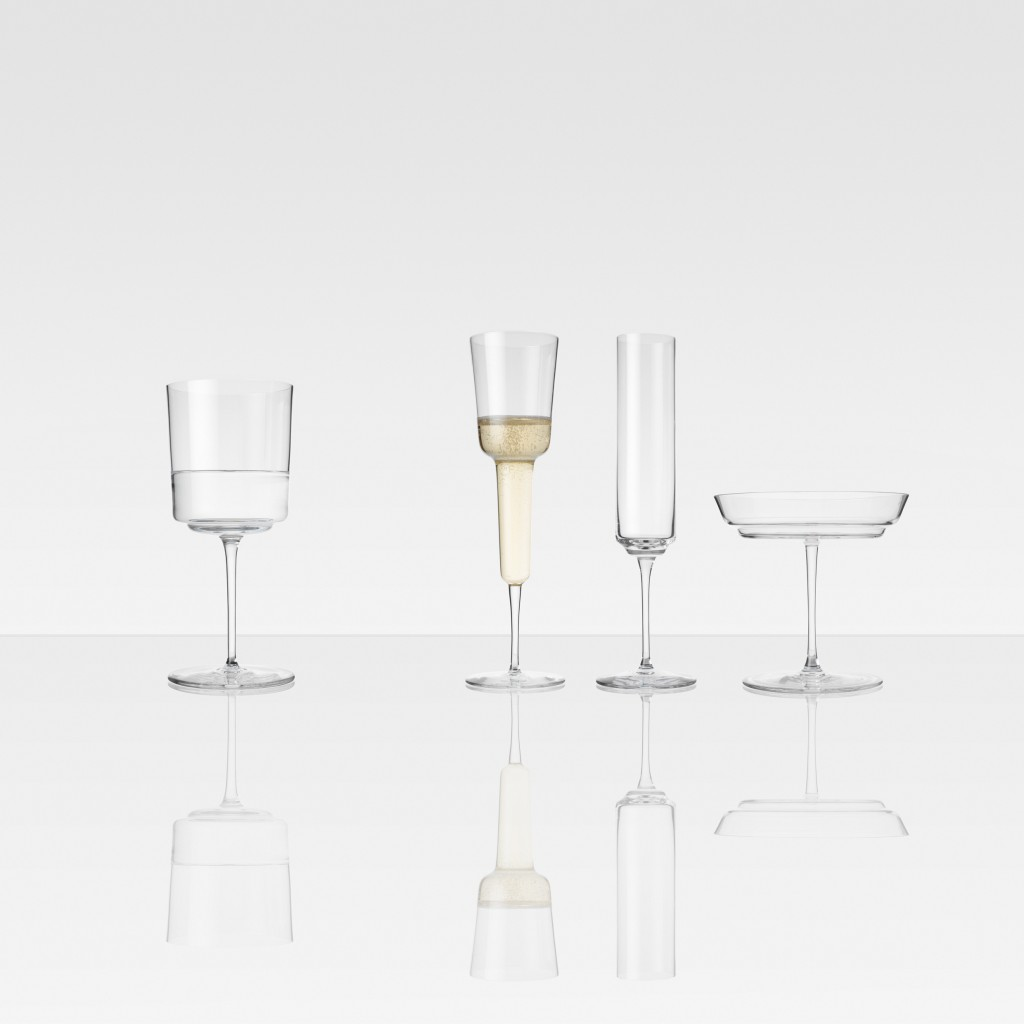 Three Champagne and One Water Glass