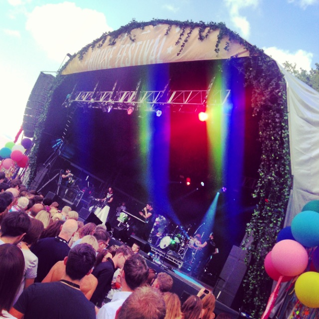 Bastille on the main stage