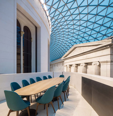 The great court restaurant british museum london for Great british interior design